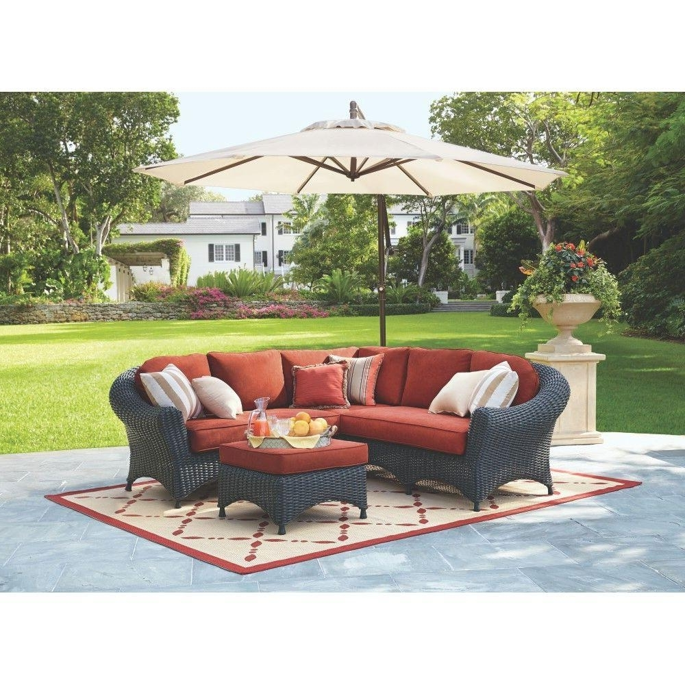 Martha Stewart Living Lake Adela 4 Piece Charcoal All Weather Wicker For 2017 Martha Stewart Conversation Patio Sets (View 7 of 15)