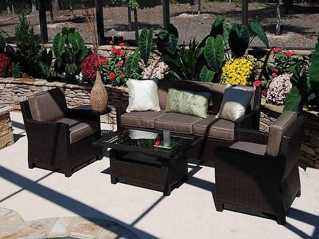Modern Black Wicker Outdoor Furniture Design (View 3 of 15)