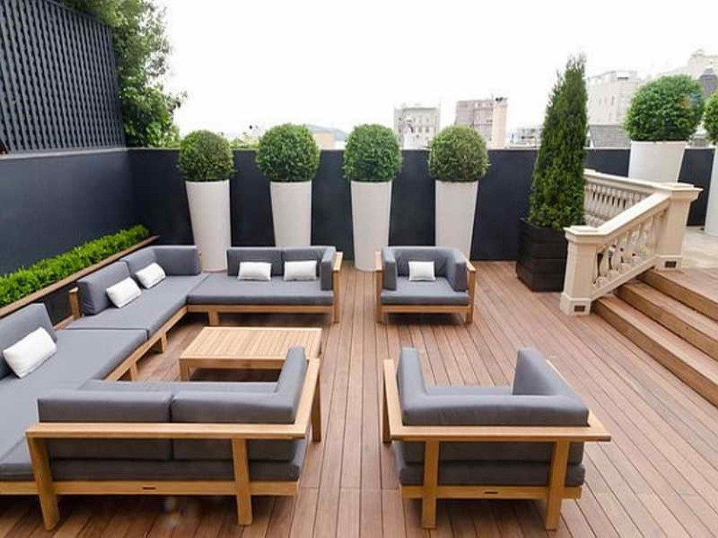 Modern Outdoor Patio Furniture Sets : Sathoud Decors – Modern With Regard To 2017 Modern Patio Conversation Sets (View 4 of 15)