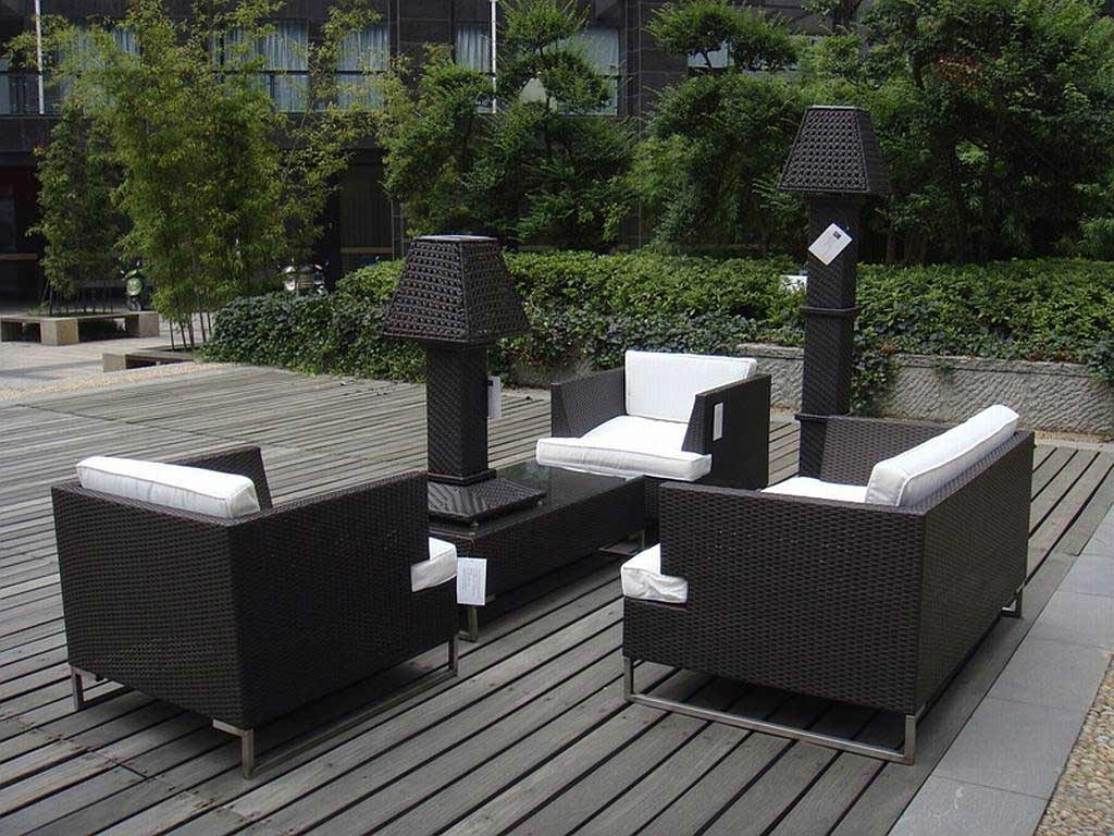 Modern Patio Conversation Sets With Regard To Most Current Modern Outdoor Balcony Furniture (View 4 of 15)