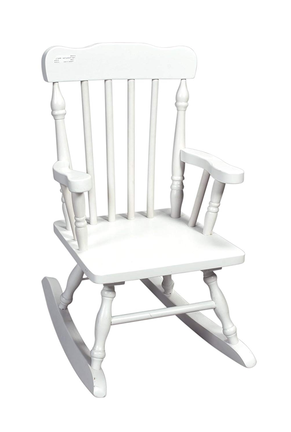 Most Current Amazon Rocking Chairs Intended For Amazon: Gift Mark Child's Colonial Rocking Chair, White: Kitchen (View 6 of 15)