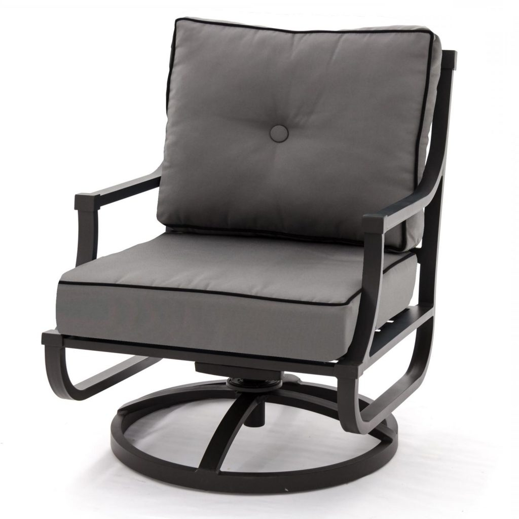 Most Current Chair : Patio Chairs That Rock Swivel With Cushions Outside Outdoor Regarding Aluminum Patio Rocking Chairs (View 10 of 15)