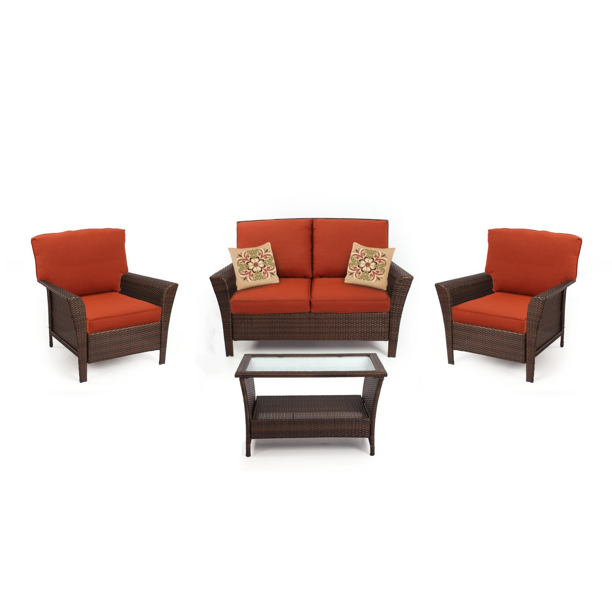 Most Current Charlotte Piece Seating Set Red Sears Outdoor Dining Living Coupon With Regard To Patio Conversation Sets At Sears (View 5 of 15)
