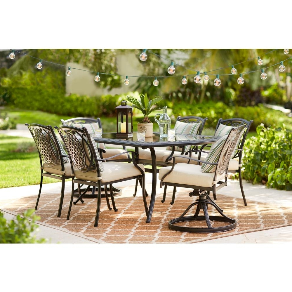 Most Current Hampton Bay Patio Conversation Sets Outdoor Lounge Furniture With Regard To Hampton Bay Patio Conversation Sets (View 5 of 15)