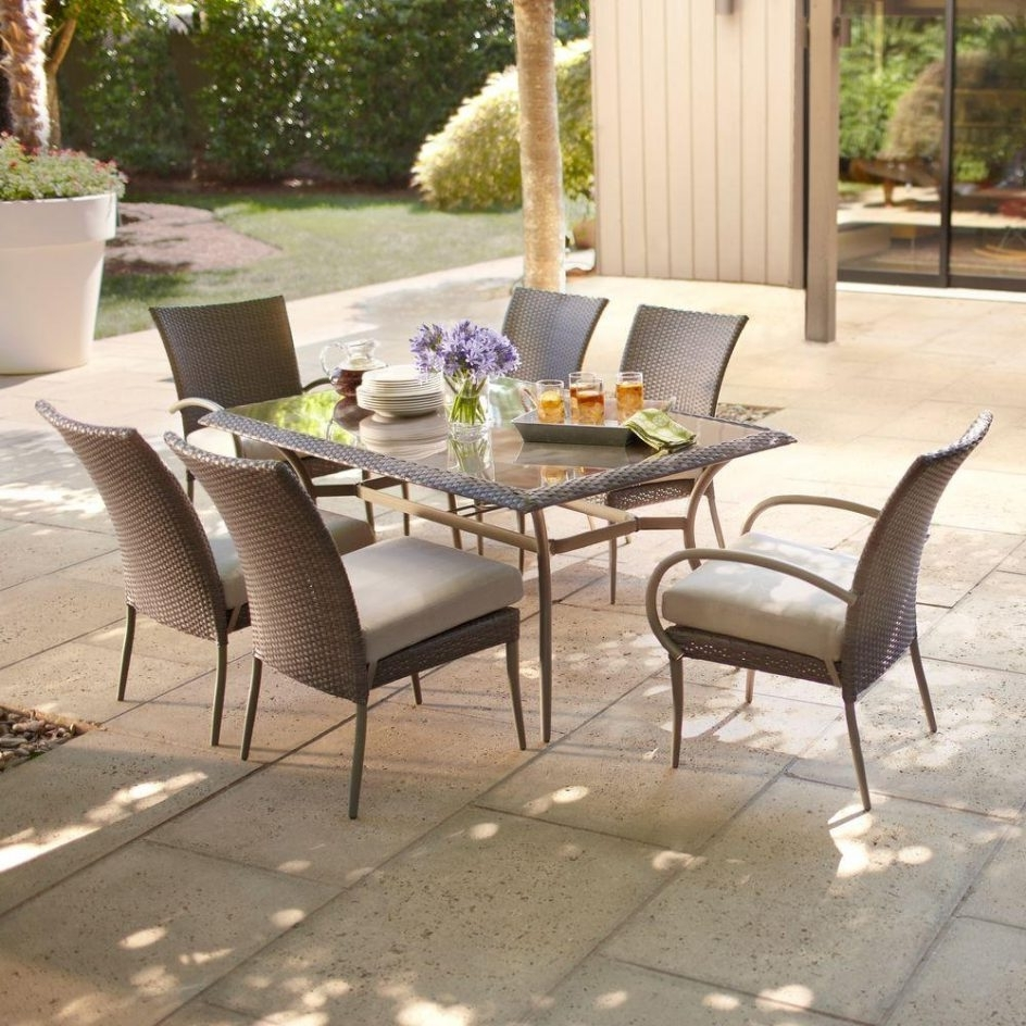 Most Current Hampton Bay Patio Conversation Sets With Regard To Graceful Outdoor Furniture Set 5 Atlantis 4 Piece Wicker Patio (View 10 of 15)