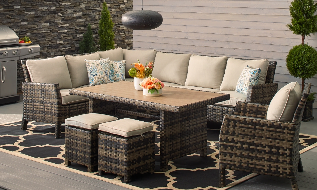 Most Current How To Choose Patio Furniture For Small Spaces – Overstock With Small Patio Conversation Sets (View 6 of 15)