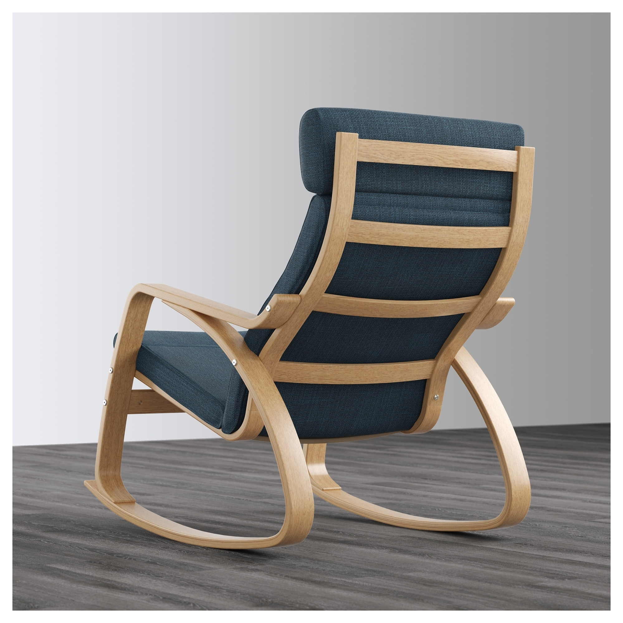 Most Current Ikea Rocking Chairs Pertaining To Poäng Rocking Chair Oak Veneer/hillared Dark Blue – Ikea (View 13 of 15)