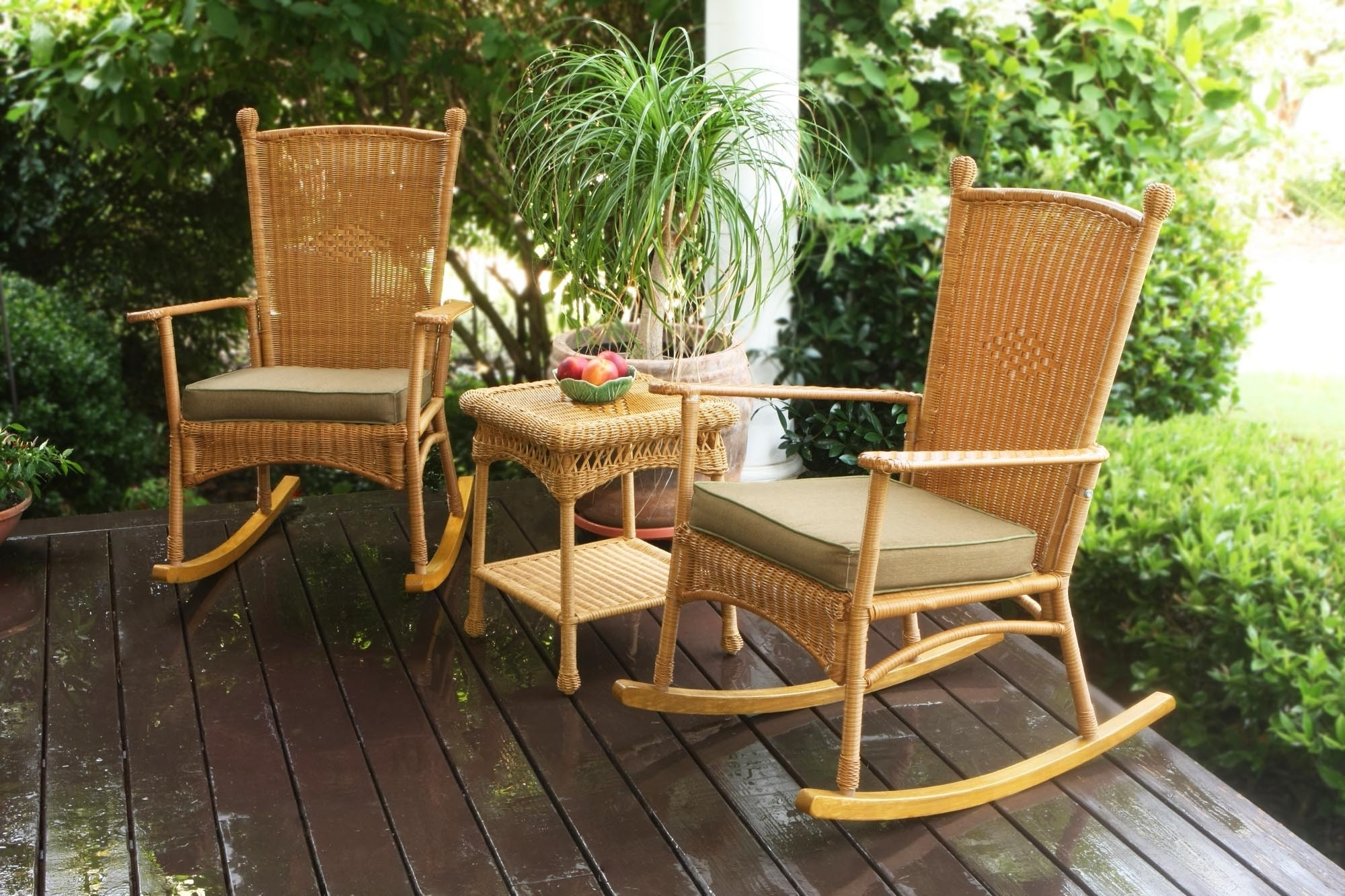 Most Current Outdoor Rocking Chair Garden Porch Furniture Rocker Patio Black Intended For Rocking Chairs For Garden (View 9 of 15)