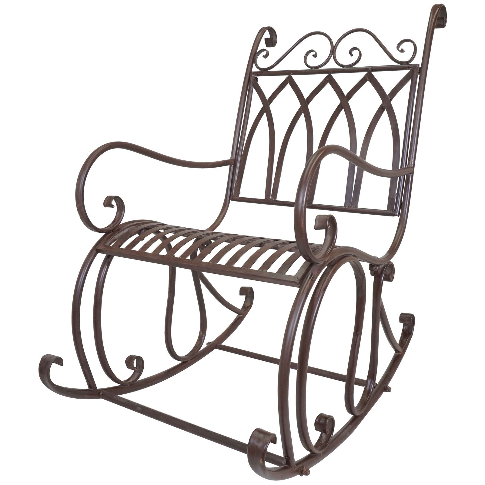 Most Current Patio Metal Rocking Chairs Regarding Titan Outdoor Metal Rocking Chair White Porch Patio Garden Seat Deck (View 10 of 15)