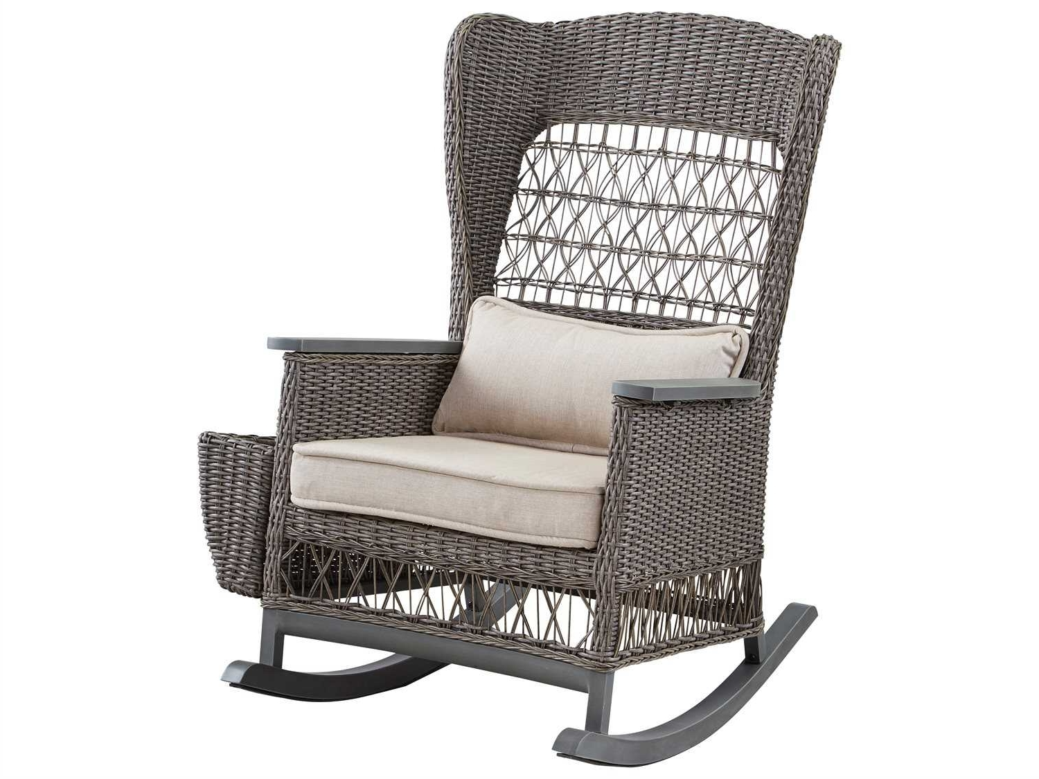 Most Current Paula Deen Outdoor Dogwood Wicker Rocker Chair With Lumbar Pillow With Rocking Chairs With Lumbar Support (View 5 of 15)