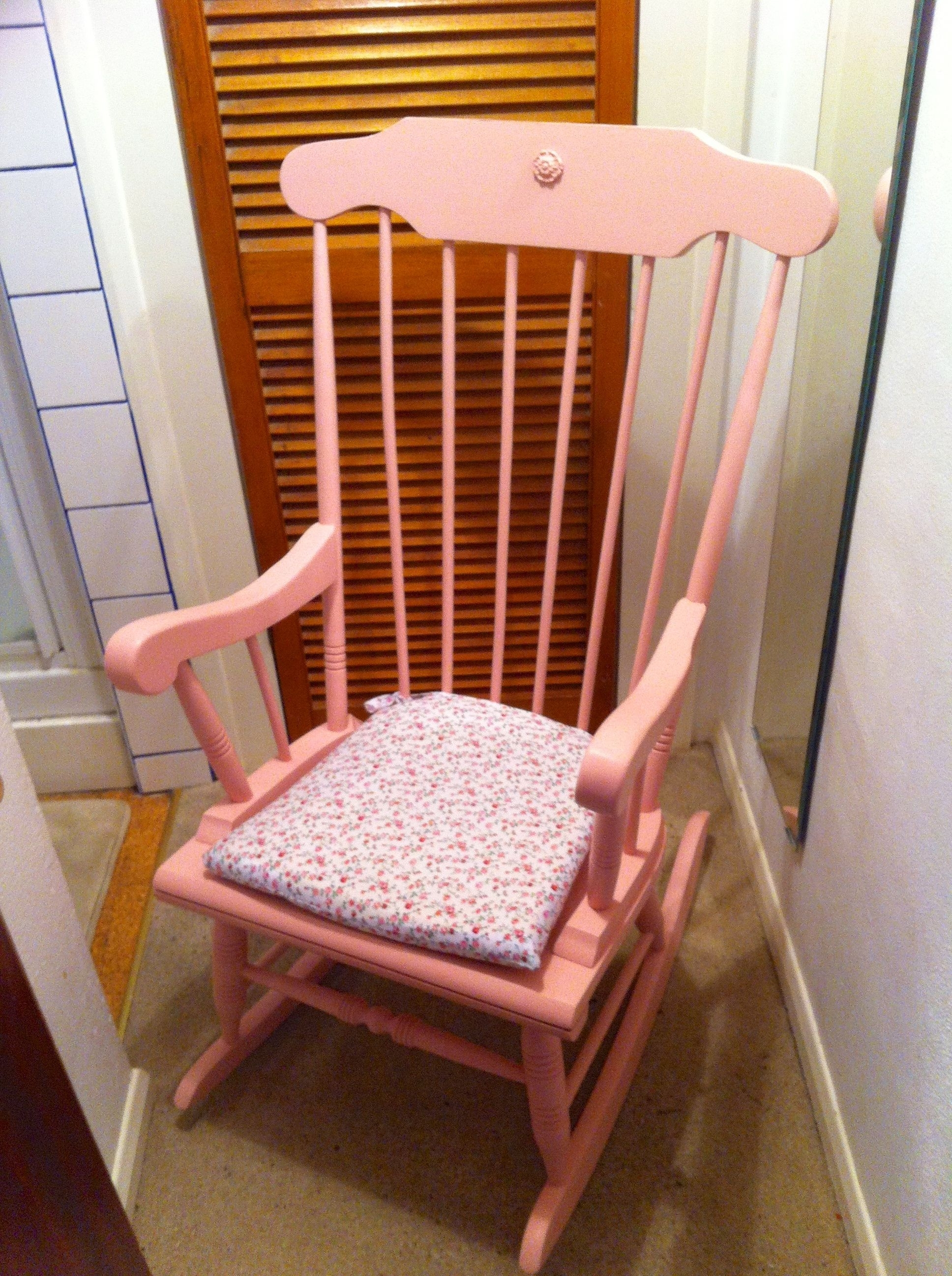 Most Current Pink Rocking Chair, Nursery Www.fluxfurnishings.co (View 13 of 15)