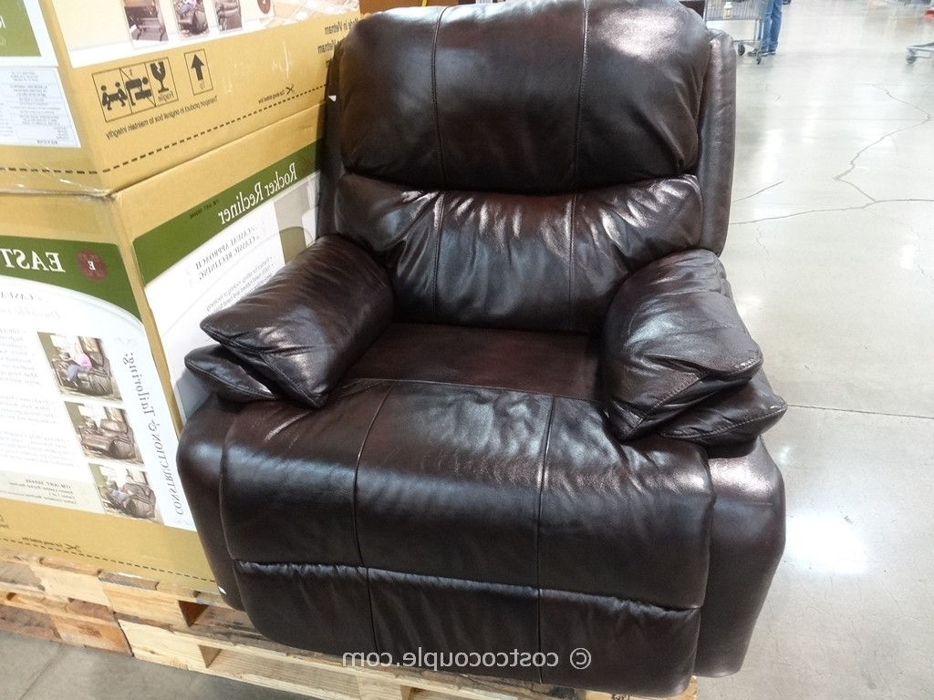 Most Current Rocking Chairs At Costco Pertaining To Highest Recliner Chairs Costco Woodworth Easton Leather Rocker (View 10 of 15)