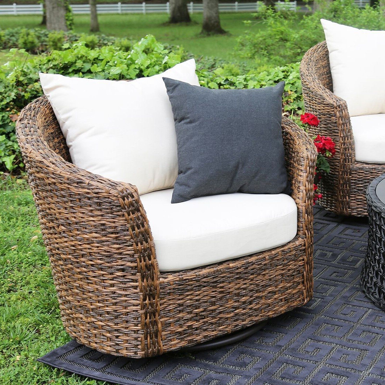 Most Current Rona Patio Rocking Chairs For Swivelr Patio Chairs Unusual Set With Furniture Rocker Swivel (View 10 of 15)