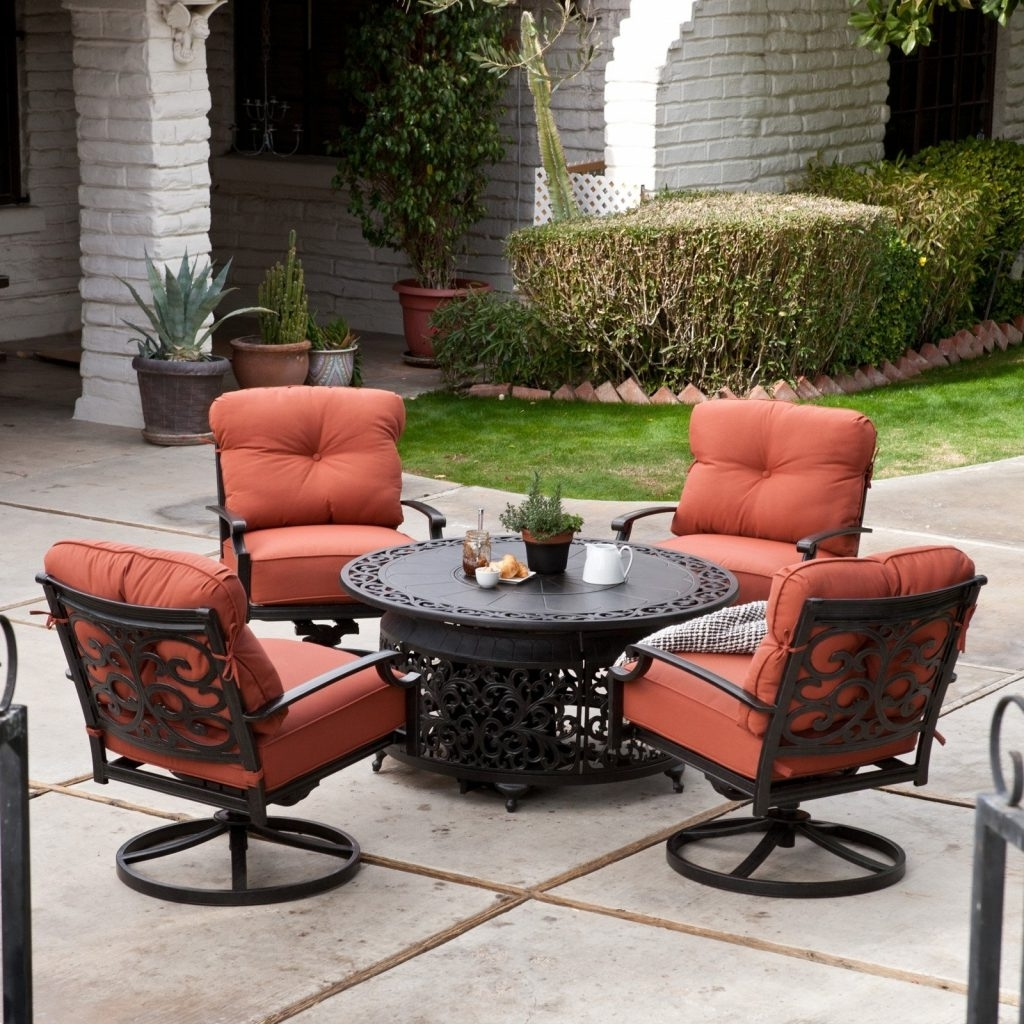 Most Current Sears Patio Furniture Conversation Sets Intended For Ultimate Sears Fire Pit Survival Gas Conversation Set Belham Living (View 5 of 15)
