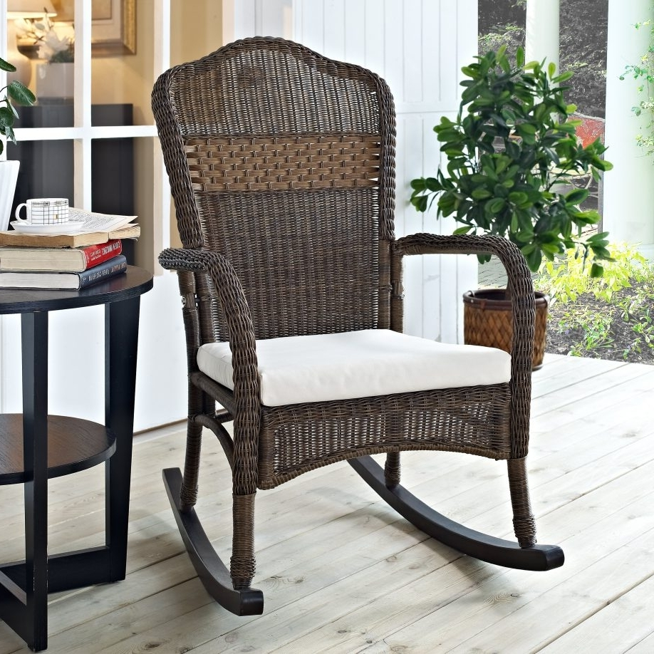 Most Current White Patio Rocking Chair Furniture Braid Rattan Outdoor Chairs For Throughout Outdoor Patio Rocking Chairs (View 3 of 15)