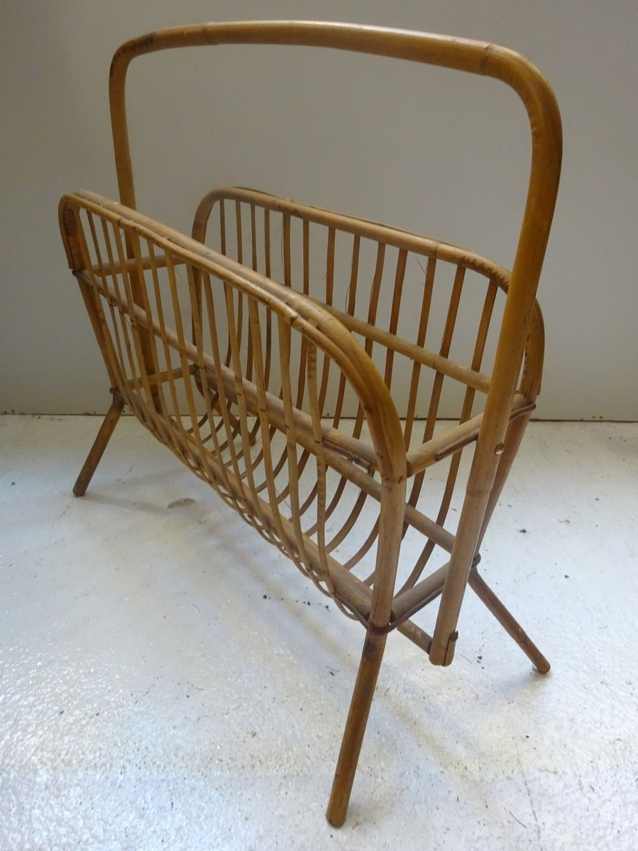Most Current Wicker Rocking Chair With Magazine Holder Intended For Wicker Magazine Rack, 1960S (View 13 of 15)