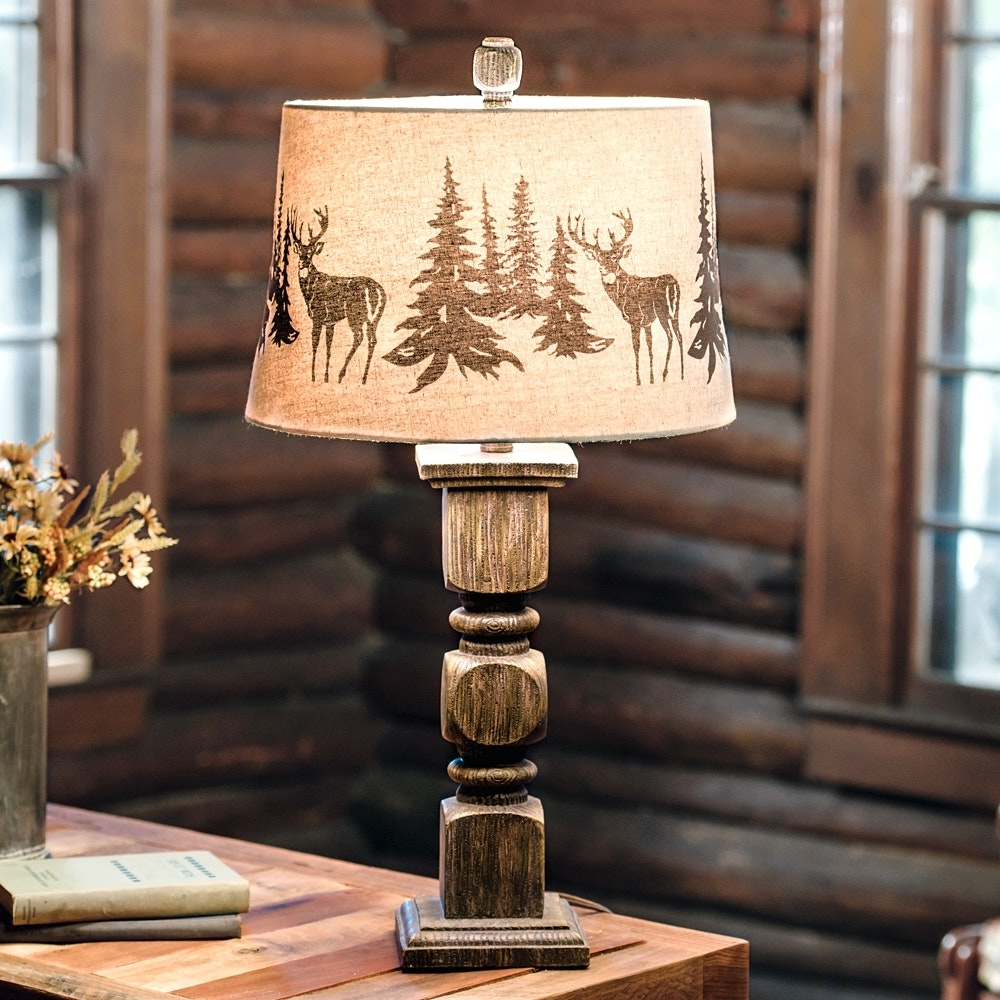 Most Popular Burlap Lamp Shade Hanging Lamp Shades Rustic Table Lamps For Living In Rustic Living Room Table Lamps (View 5 of 15)