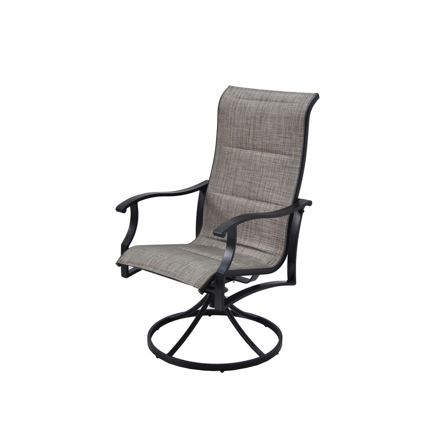 Most Popular Garden Treasures Skytop Count Black Steel Swivel Rocker Patio Sling Pertaining To Patio Sling Rocking Chairs (View 7 of 15)