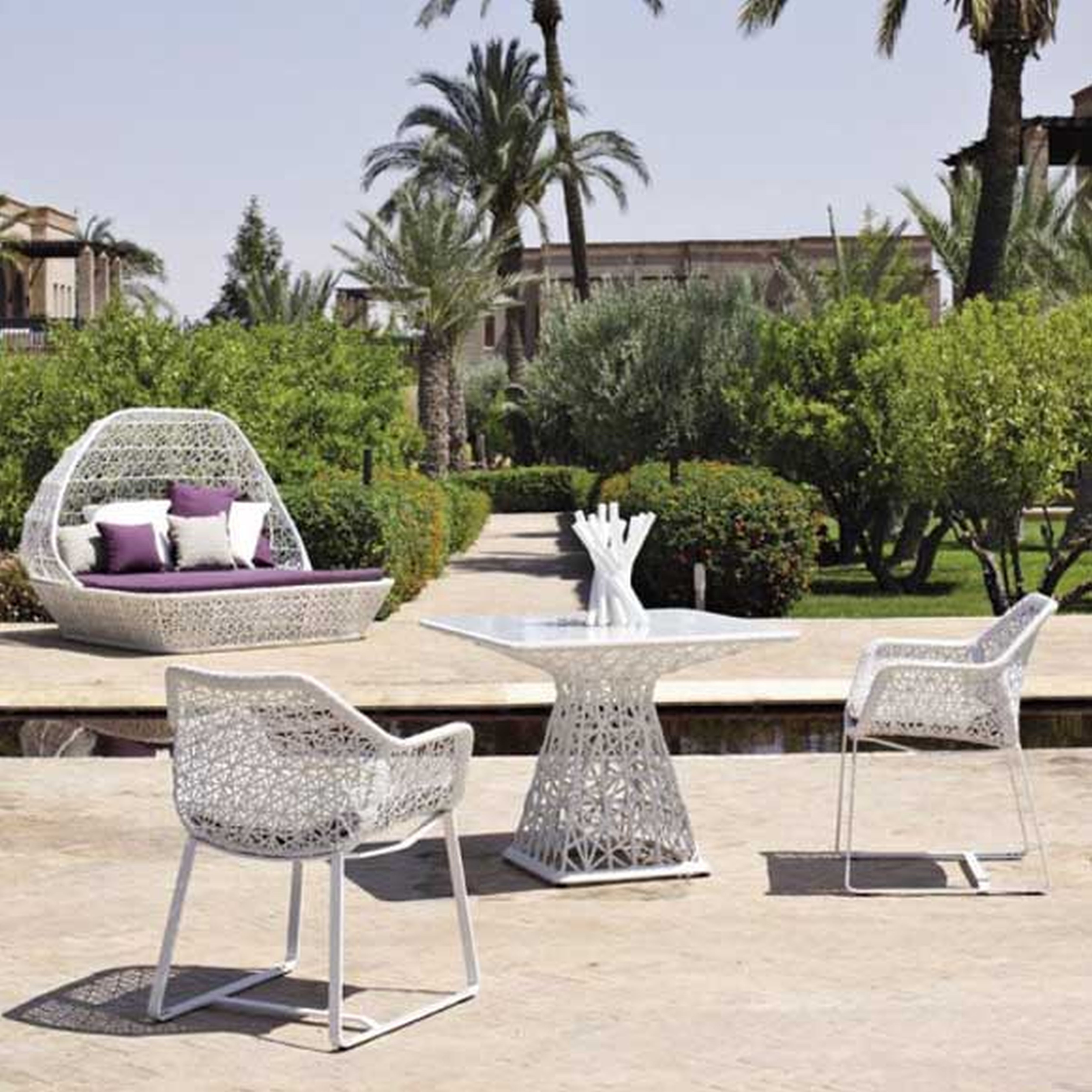 Most Popular Modern Patio Conversation Sets Regarding Outdoor White Wicker Furniture Nice Simple Furniture Full Size Of (View 2 of 15)