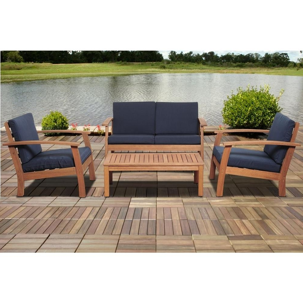 Most Popular Patio Table: Wooden Patio Couch (View 10 of 15)