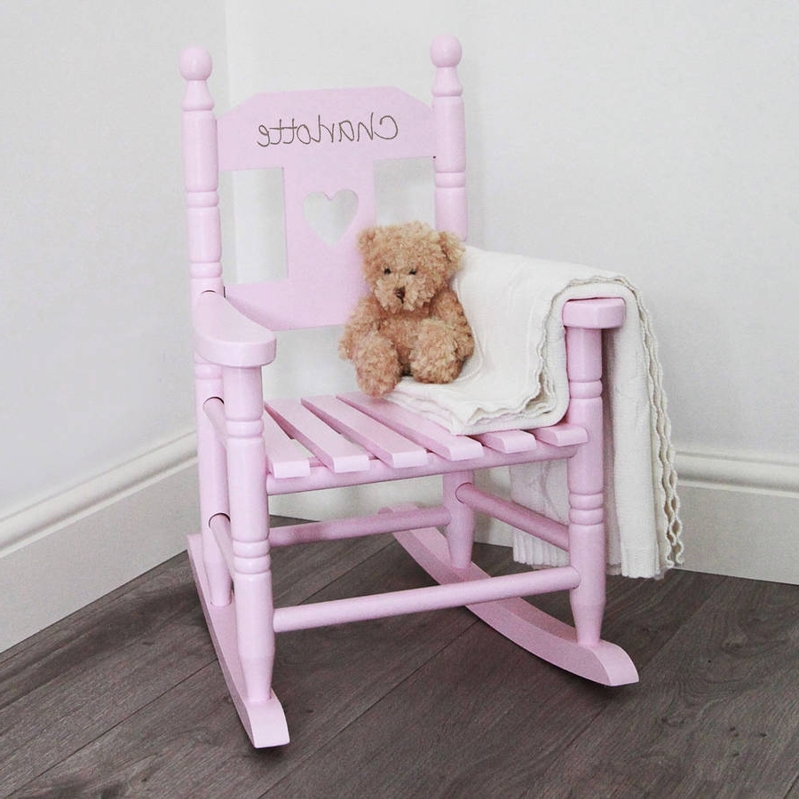 Most Popular Personalized Kid Rocking Chair : New Kids Furniture – Kid Rocking Intended For Rocking Chairs For Toddlers (View 2 of 15)