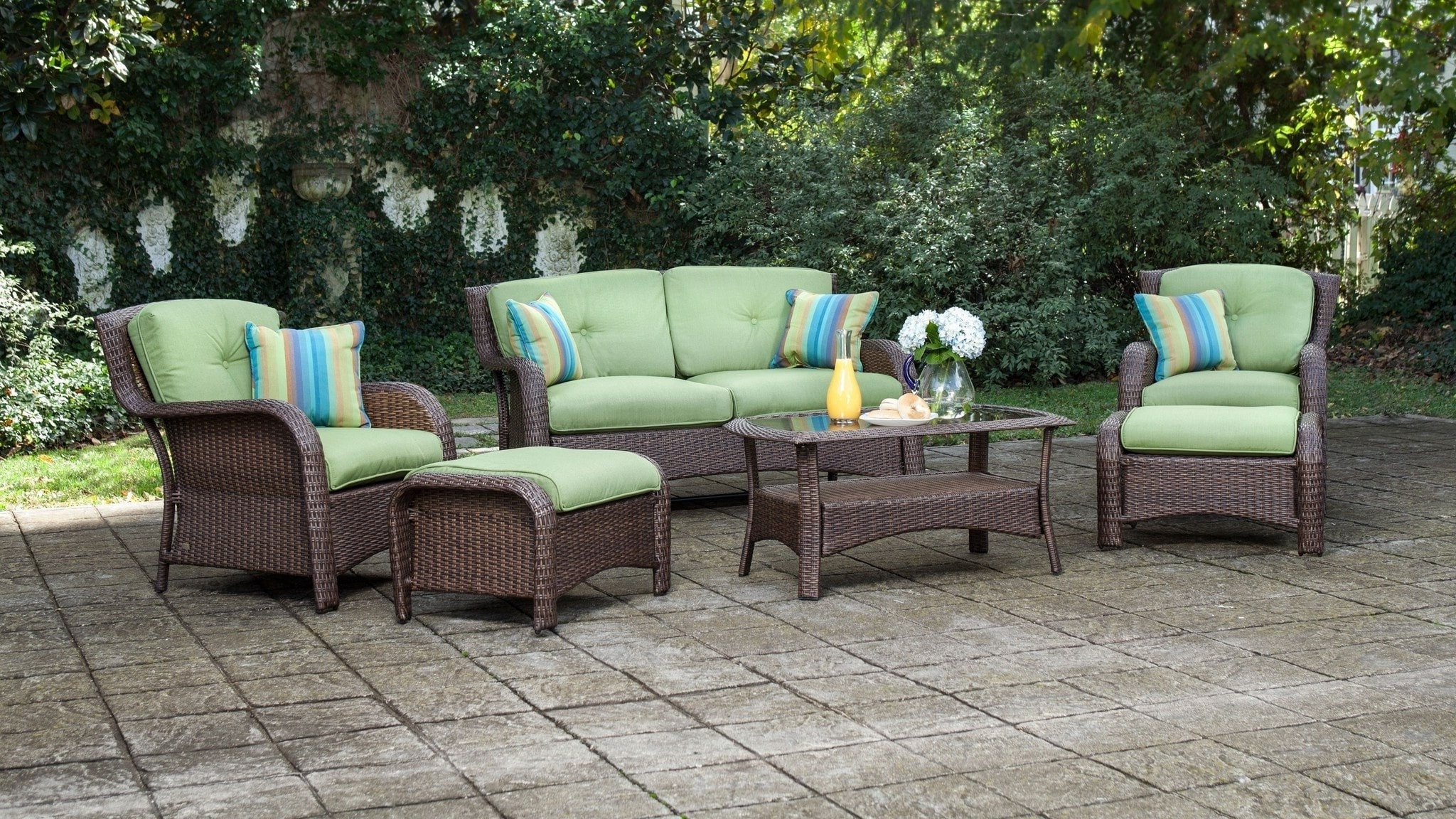 Most Popular Resin Conversation Patio Sets With Wicker Patio Table Set Unique Sawyer 6Pc Resin Wicker Patio (View 8 of 15)