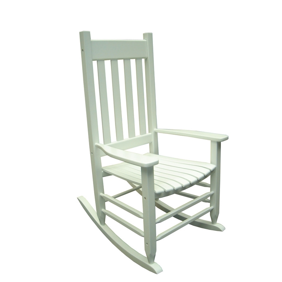 Most Popular Rocking Chairs At Lowes For Livingroom : Shop Garden Treasures White Outdoor Rocking Chair At (View 8 of 15)
