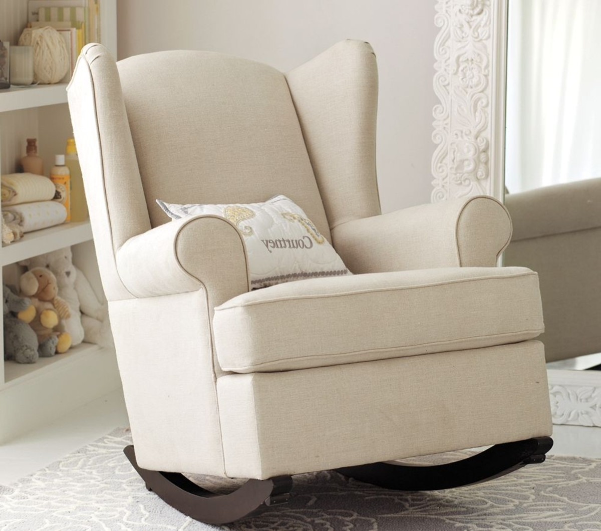 Most Popular Rocking Chairs For Baby Room In Nursery Rocking Chair Courtney – Nursery Rocking Chair For Mom And (View 9 of 15)