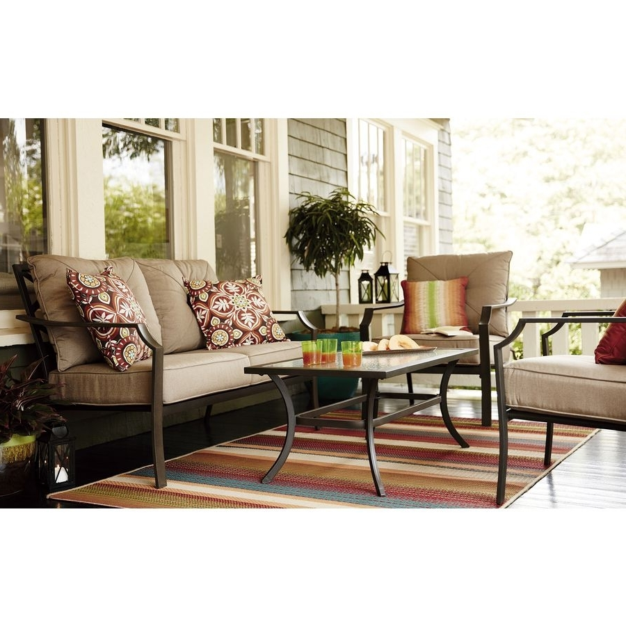 Most Popular Shop Garden Treasures 2 Piece Steel Patio Conversation Set At Lowes Intended For Garden Treasures Patio Conversation Sets (View 12 of 15)