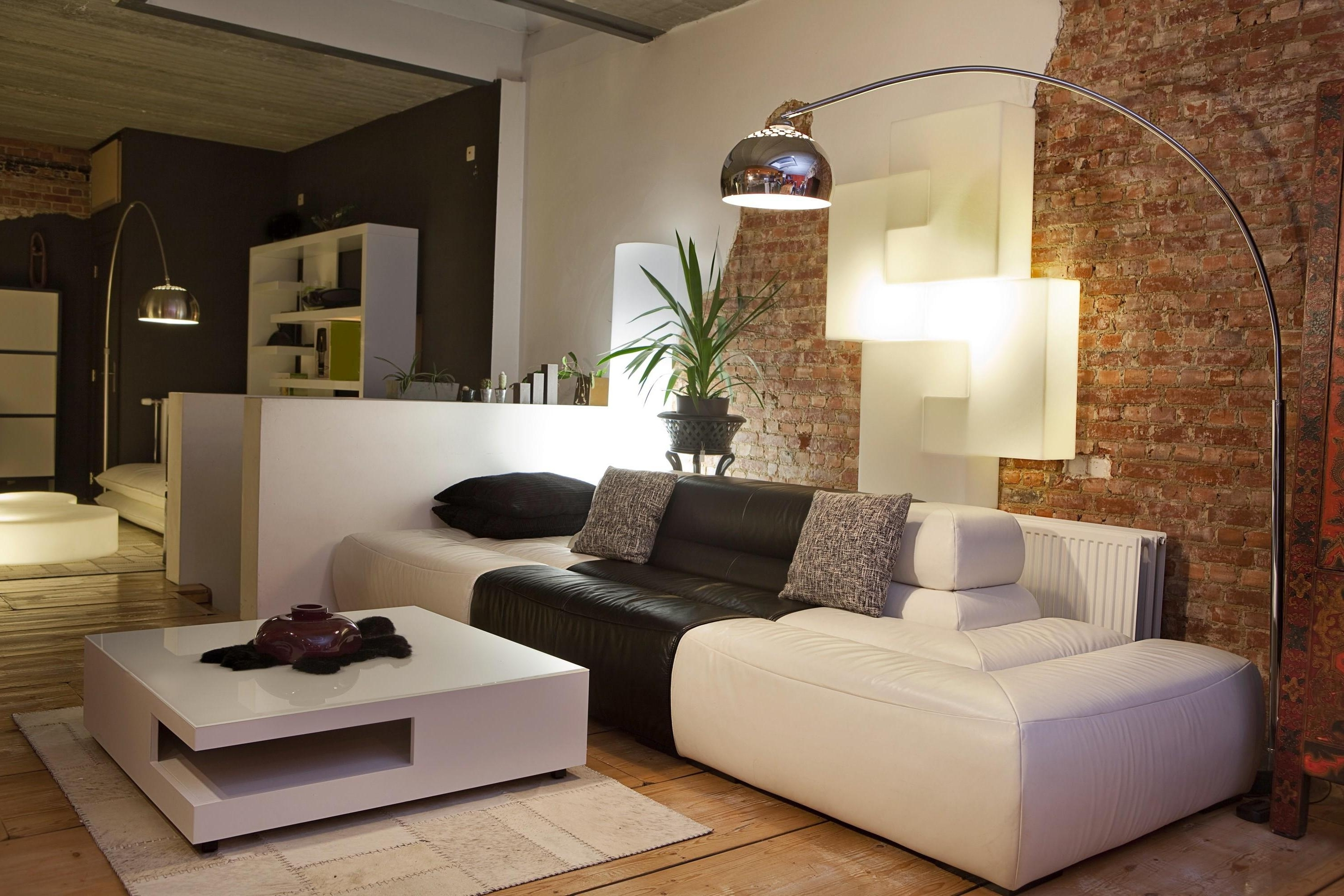 Most Popular White Living Room Table Lamps Regarding How To Mix Modern Floor Lamp In Your Home Interiors Living Room (View 8 of 15)