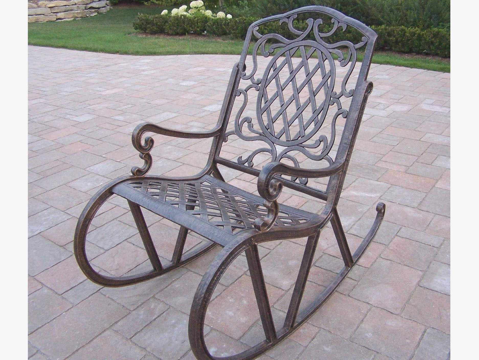 Most Popular Wrought Iron Patio Rocking Chairs Throughout Metal Patio Rocking Chairs Lovely Wrought Iron Rocking Patio (View 3 of 15)
