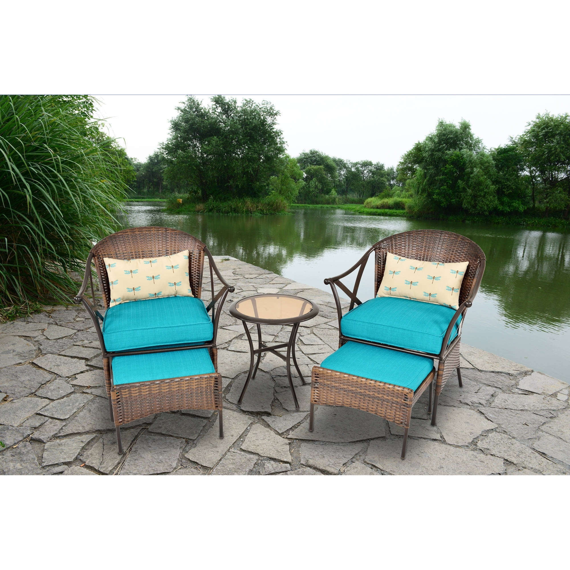 Most Recent Deal!!! 3 Ps Outdoor Rattan Patio Furniture Set Backyard Garden Pertaining To Patio Conversation Sets At Walmart (View 7 of 15)