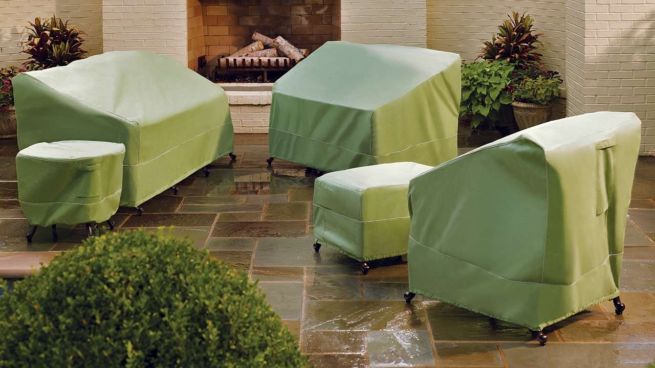 Most Recent Outdoor Covers For Patio Furniture Patio Collection In Green Patio Inside Patio Conversation Sets With Covers (View 9 of 15)