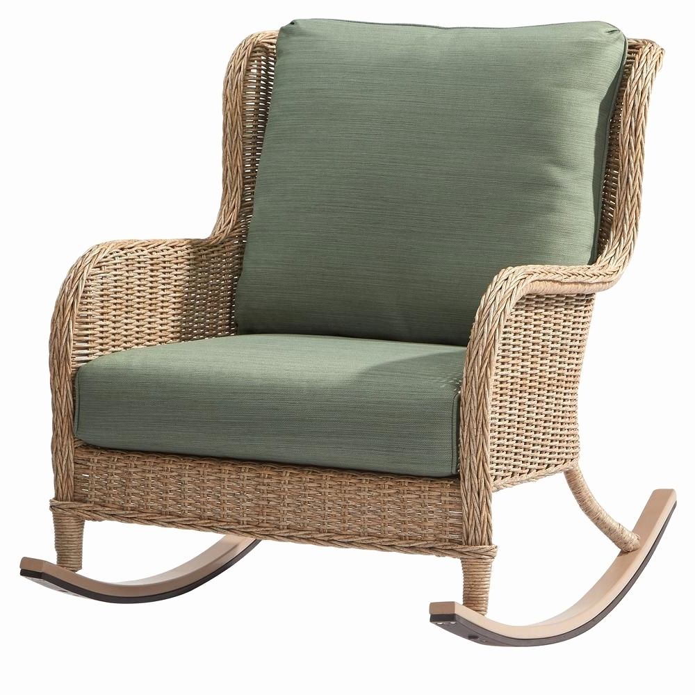 Most Recent Rocking Chair On Porch Fresh Hampton Bay Lemon Grove Wicker Outdoor In Hampton Bay Rocking Patio Chairs (View 12 of 15)