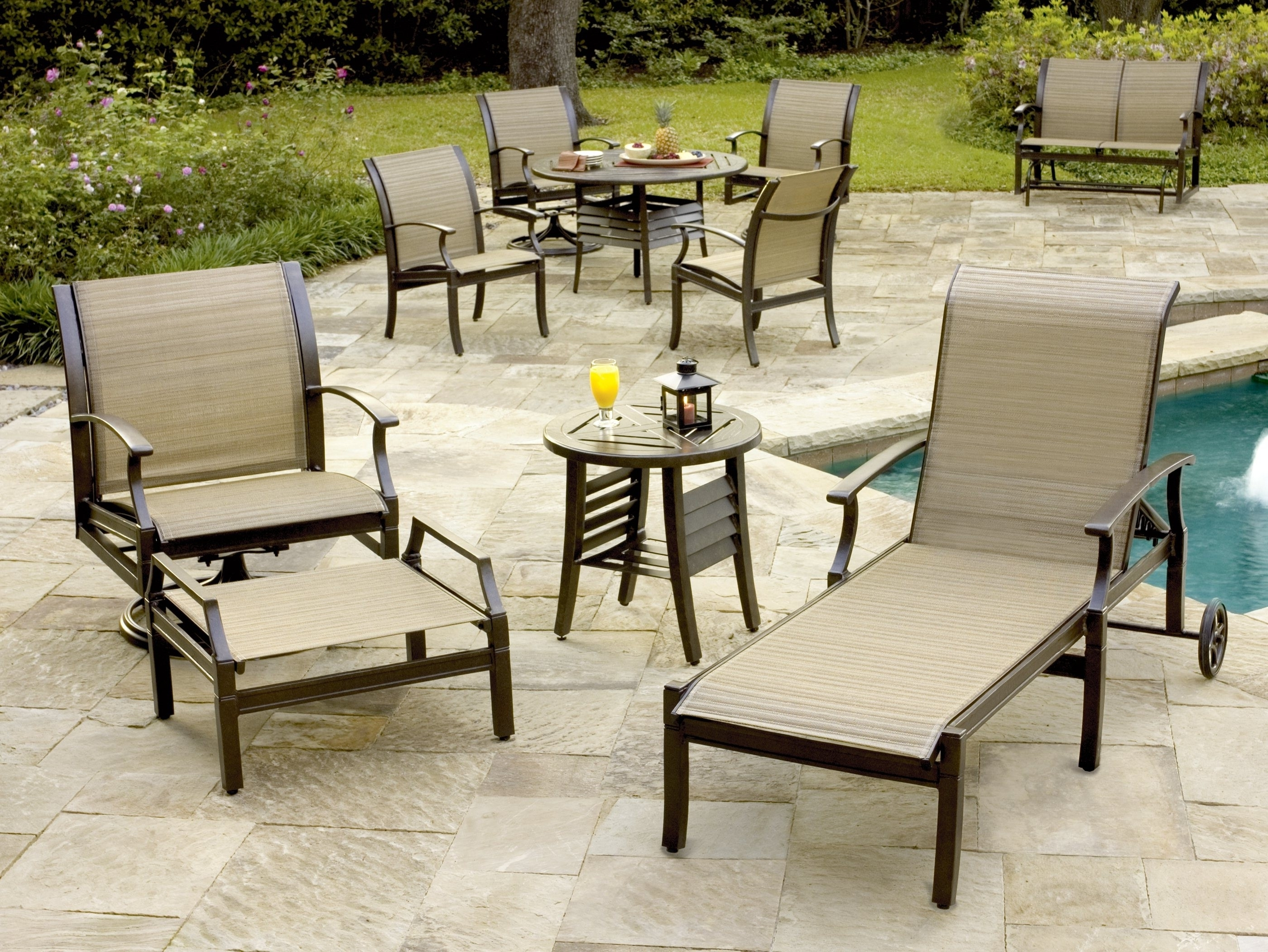 Most Recent Sling Patio Conversation Sets Within Sling Patio Furniture Sets F80X On Excellent Home Design Your Own (View 1 of 15)