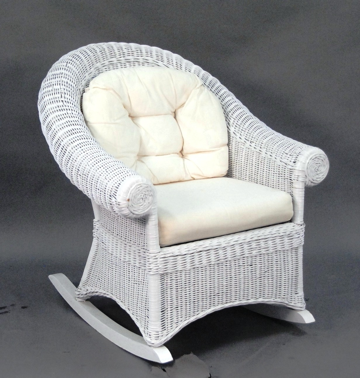 Most Recent Terrific White Wicker Rocking Chair About Remodel Famous Chair For Outdoor Wicker Rocking Chairs (View 14 of 15)