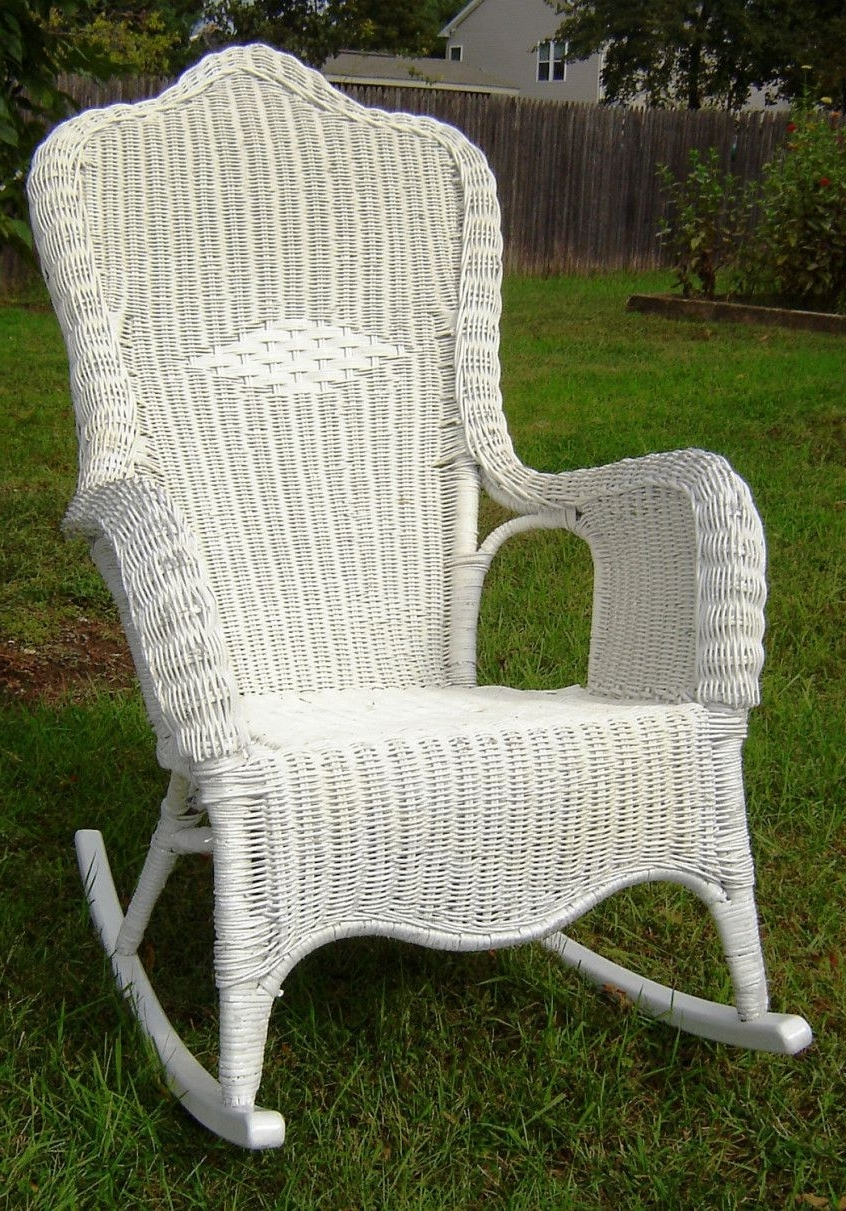 Most Recent Vintage Wicker Rocking Chair – Furniture For Home Office Check More Regarding Vintage Wicker Rocking Chairs (View 6 of 15)