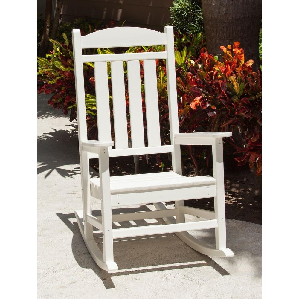 Most Recent White – Rocking Chairs – Patio Chairs – The Home Depot With Rocking Chairs At Home Depot (View 9 of 15)