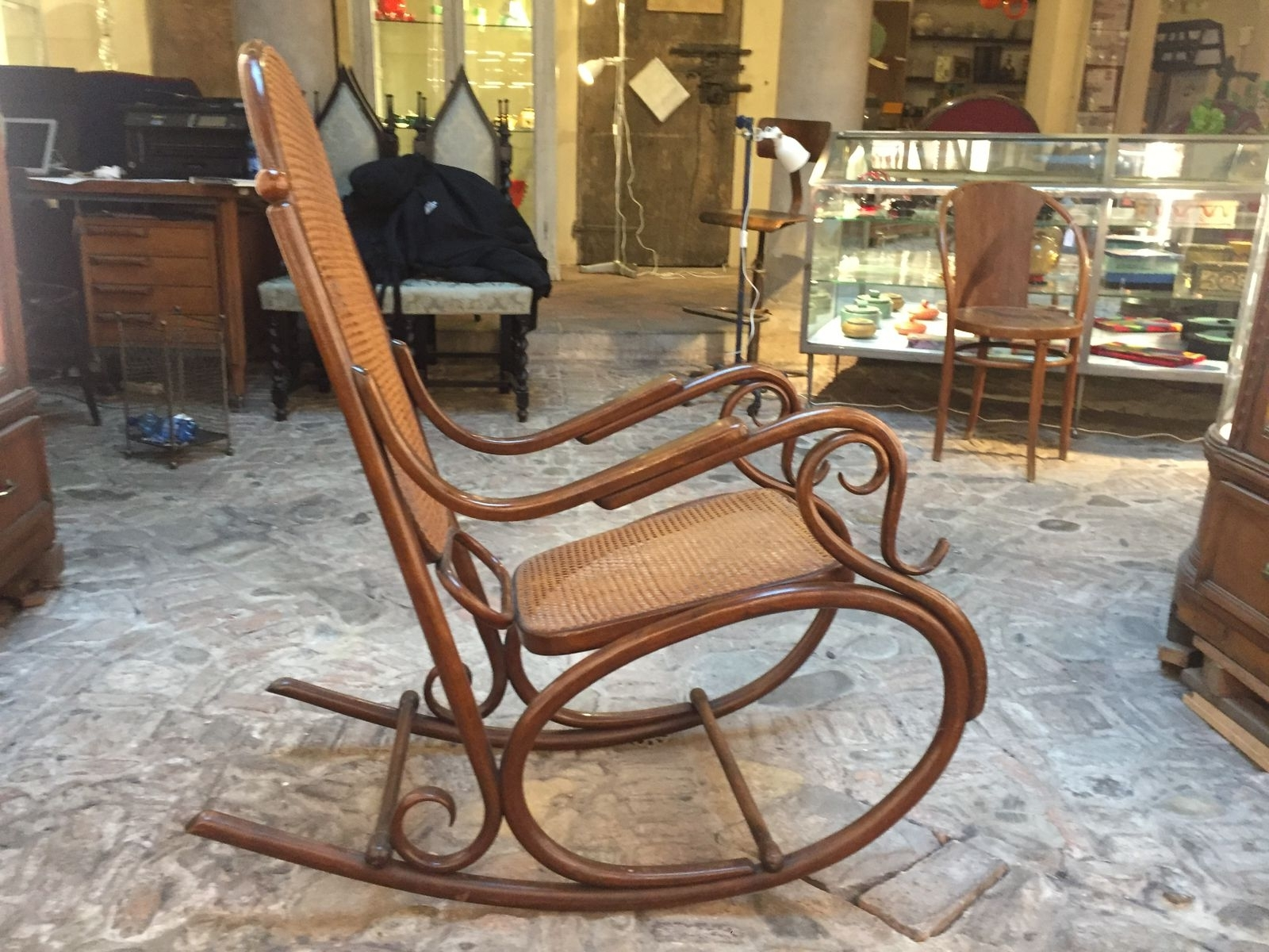 Most Recently Released Antique Rocking Chairs Regarding Antique Rocking Chair For Sale – Image Antique And Candle (View 14 of 15)