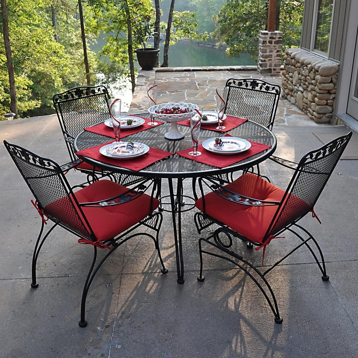 Most Recently Released Iron Patio Conversation Sets Inside Patio : Awful Metal Patio Furniture Sets Picture Inspirations (View 11 of 15)