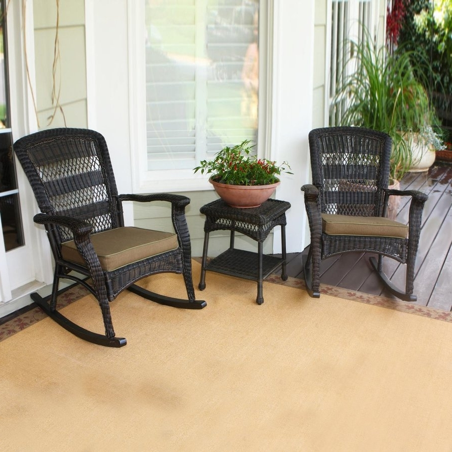 Most Recently Released Shop Tortuga Outdoor Portside 3 Piece Wicker Frame Patio Pertaining To 3 Piece Patio Conversation Sets (View 10 of 15)