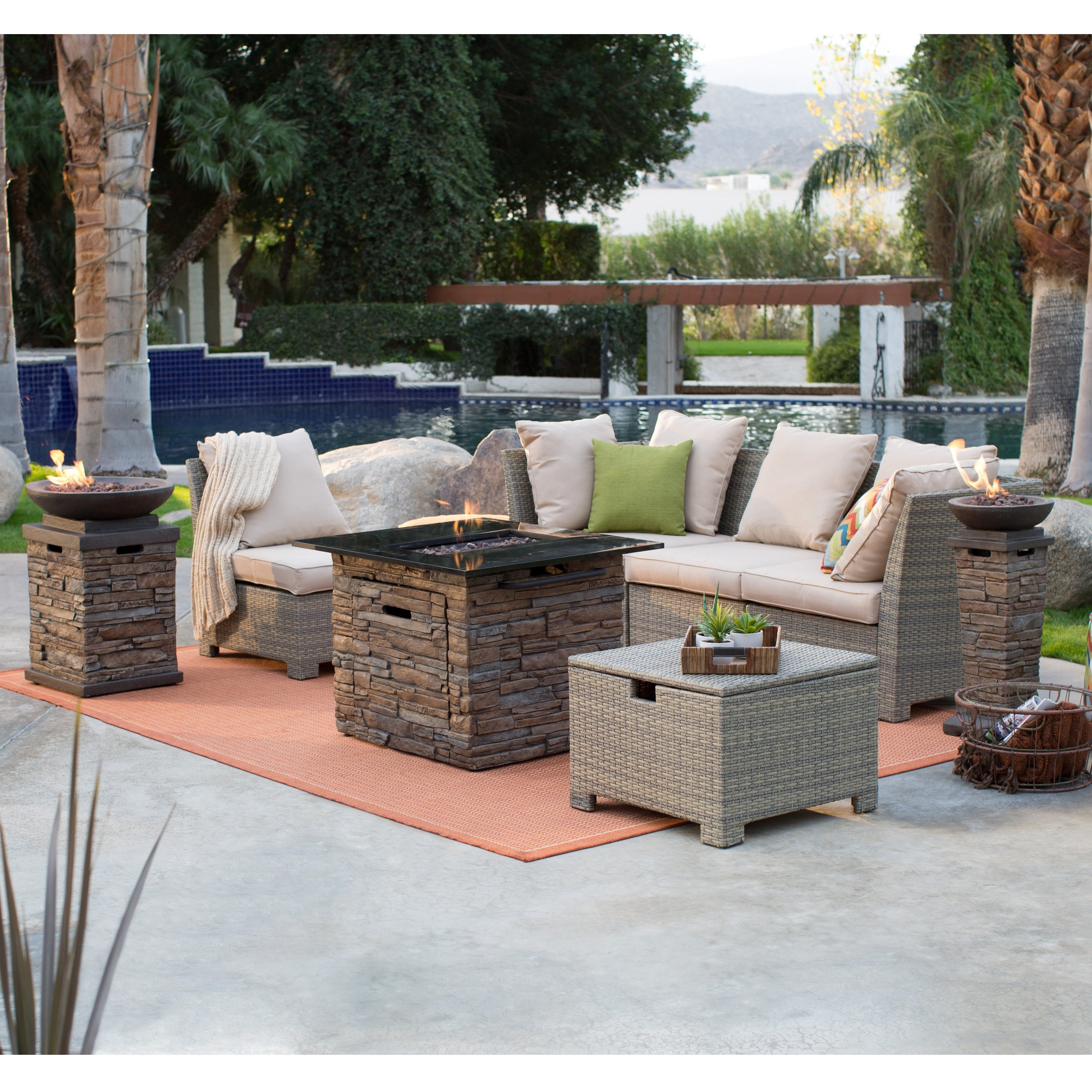 Most Recently Released Unlimited Gas Fire Pit Conversation Set Fortune Outdoor Patio With With Regard To Patio Conversation Sets With Propane Fire Pit (View 3 of 15)