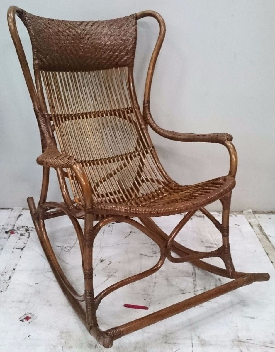 "Most Up To Date Connor"" Rattan Cane Rocking Chair In Antique Brown With Regard To Antique Wicker Rocking Chairs (View 6 of 15)"