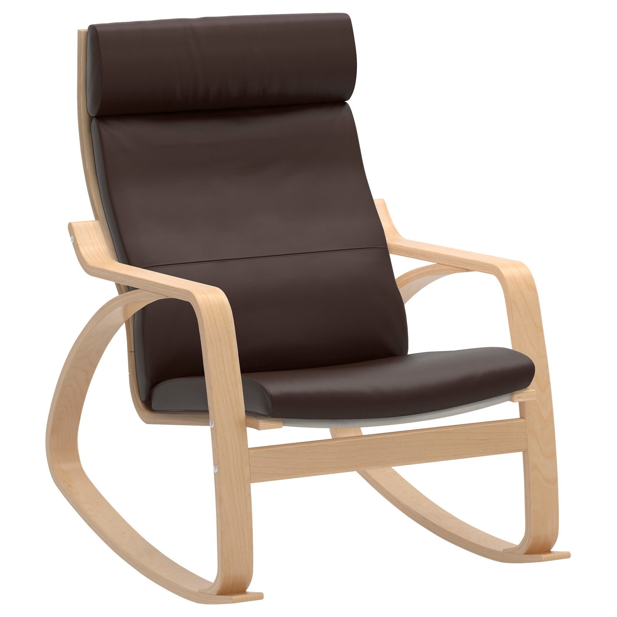 Most Up To Date Ikea Rocking Chairs Inside Poäng Rocking Chair – Glose Black – Ikea (View 3 of 15)