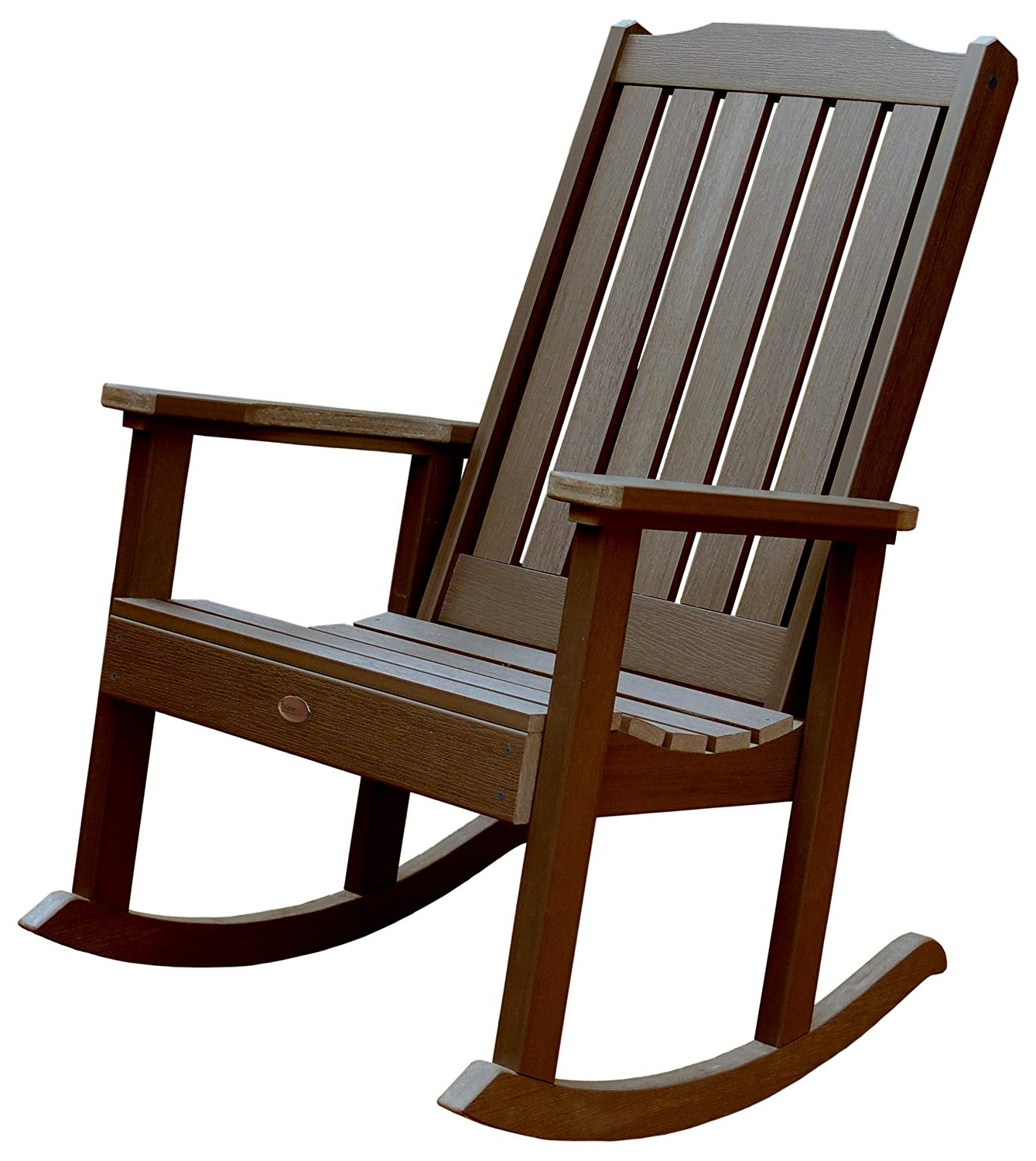 Most Up To Date Outdoor Rocking Chairs Pertaining To Amazon : Highwood Lehigh Rocking Chair, Weathered Acorn : Patio (View 7 of 15)