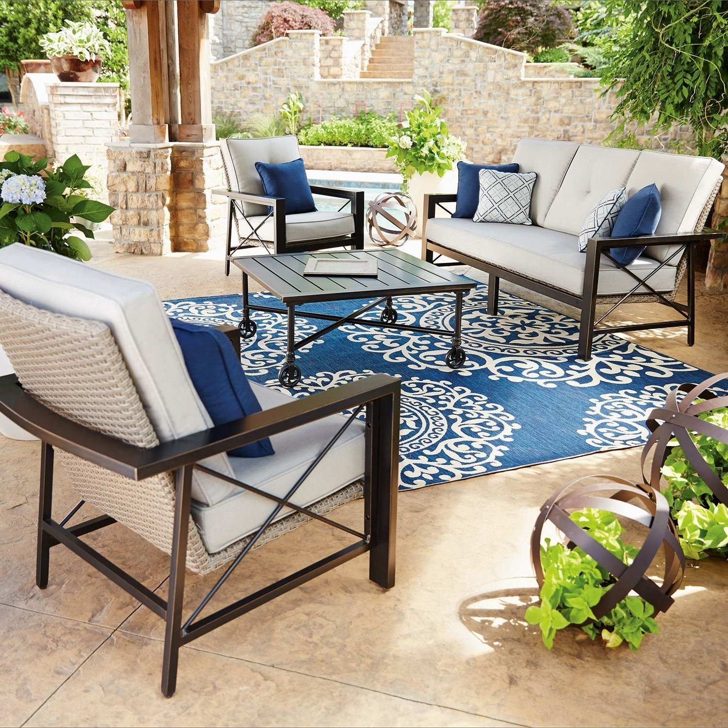Most Up To Date Patio Conversation Sets At Sam's Club Intended For Member's Mark Katana 4 Piece Seating Set (View 8 of 15)