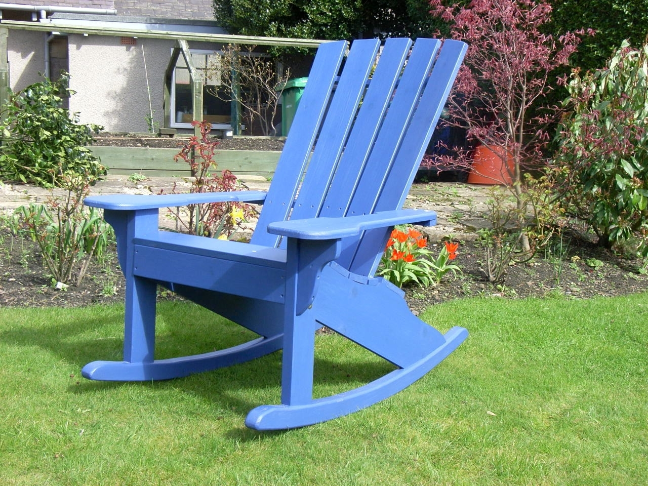 Most Up To Date Rocking Chairs For Garden Throughout The Adirondack Rocker Chair – Sunshine Chairs (View 8 of 15)