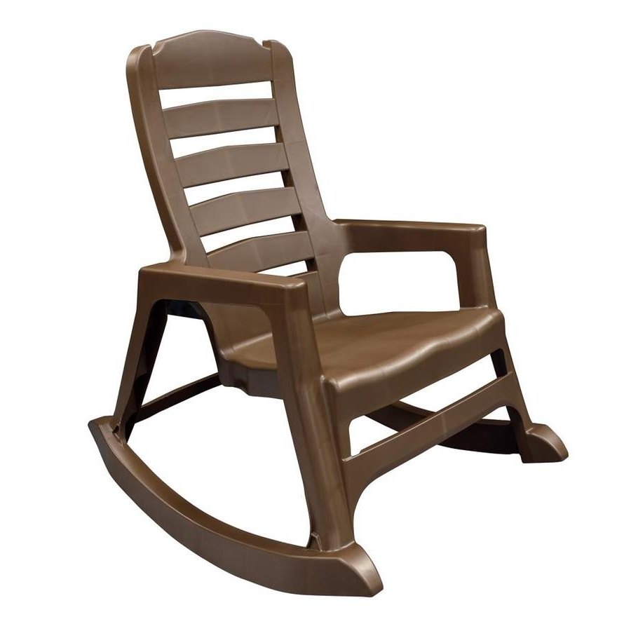 Most Up To Date Shop Adams Mfg Corp Stackable Resin Rocking Chair At Lowes Regarding Resin Patio Rocking Chairs (View 11 of 15)