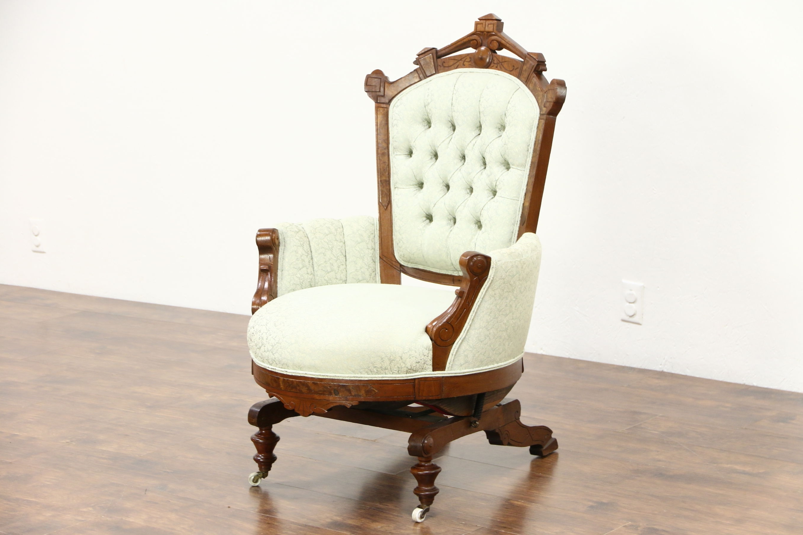 Most Up To Date Sold – Victorian Eastlake Walnut Antique Stationary Rocker Or Regarding Victorian Rocking Chairs (View 9 of 15)