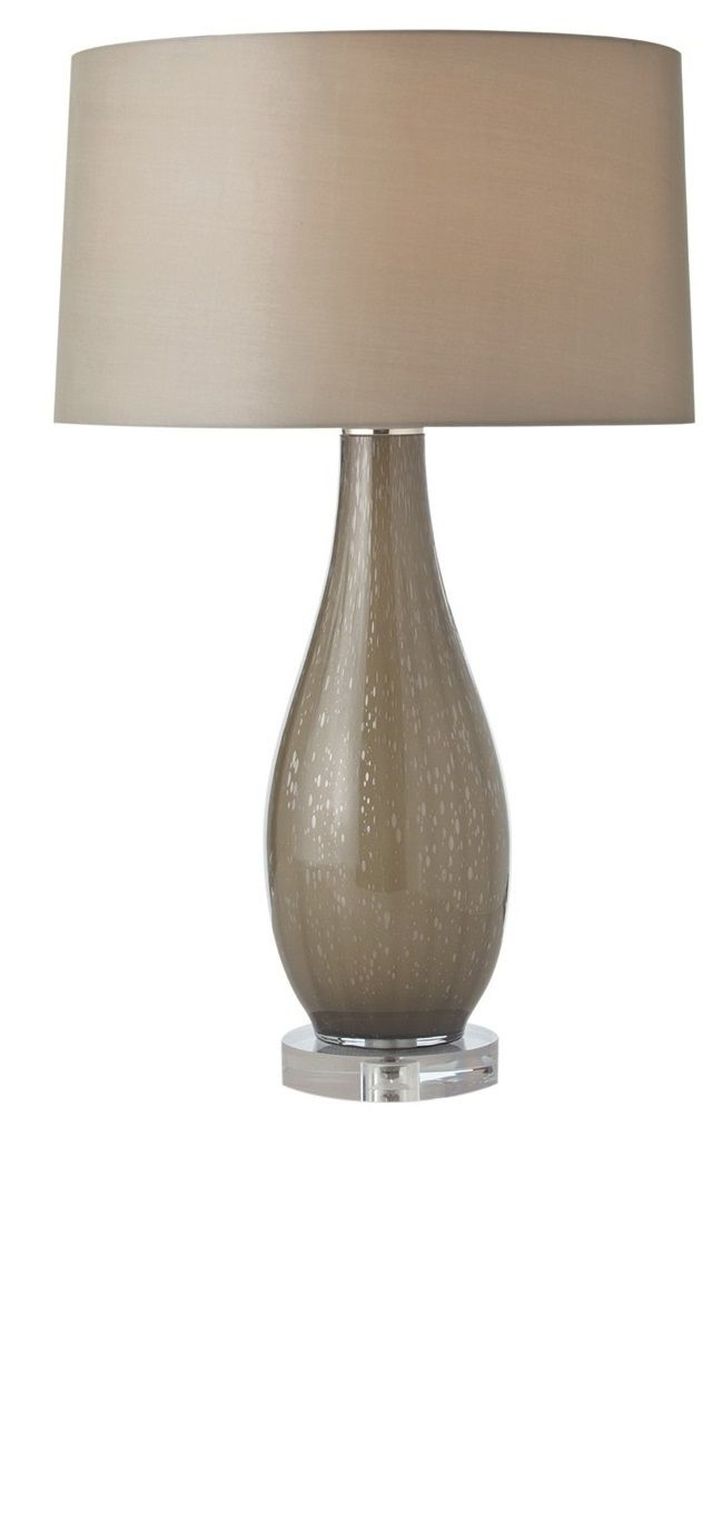 Most Up To Date Taupe Contemporary Table Lamp — Shade And Body From Instyle Decor Pertaining To Living Room Table Lamp Shades (View 9 of 15)